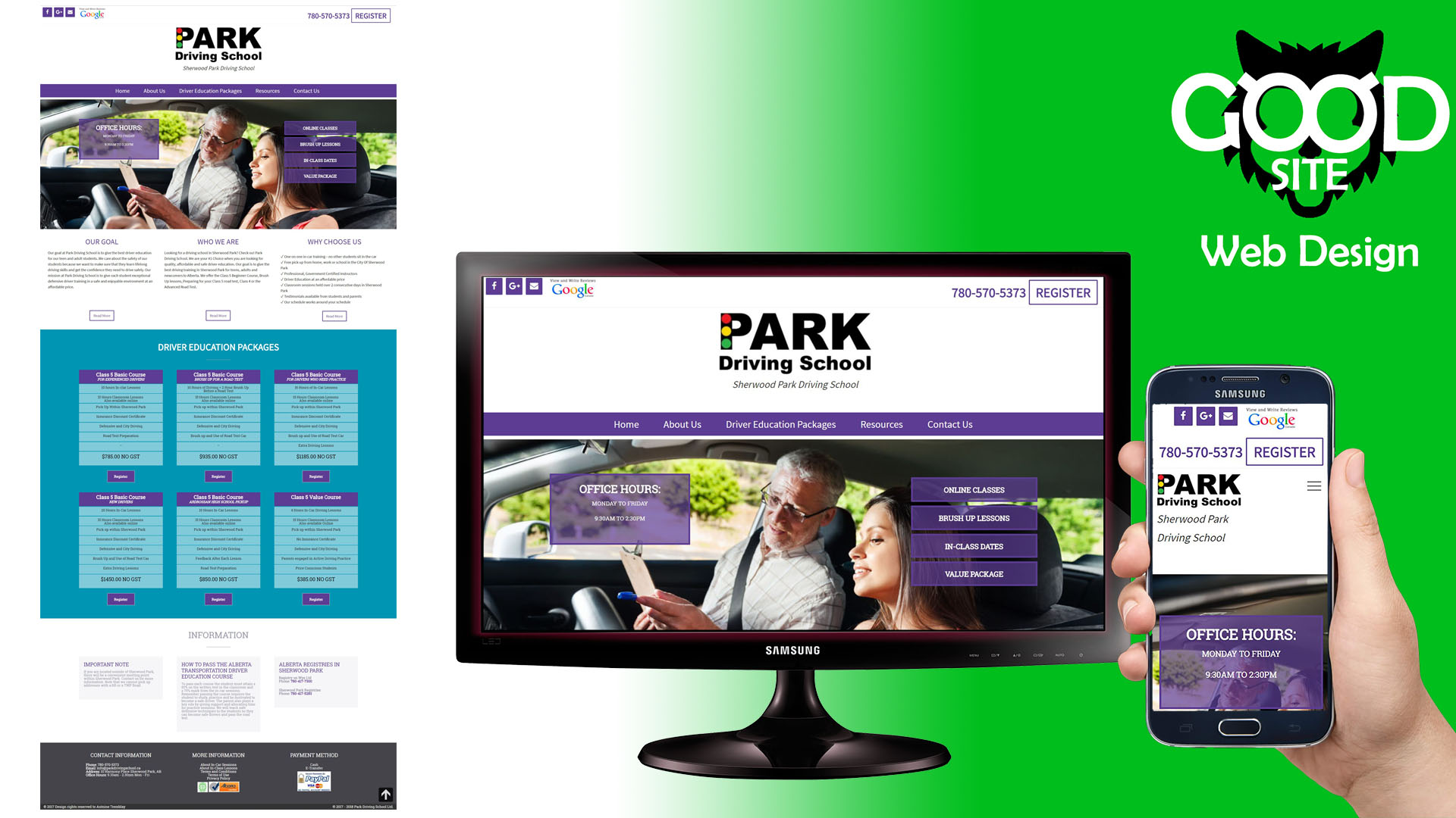 parkdrivingschool.ca website image