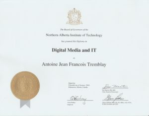 Antoine Tremblay Diploma